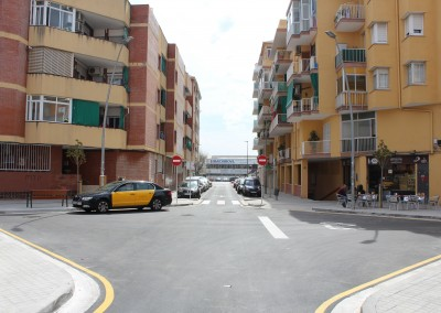 Pas vianants final obra carrer Major Narcis Monturiol